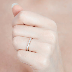Fallon Half Eternity Ring Yellow Gold