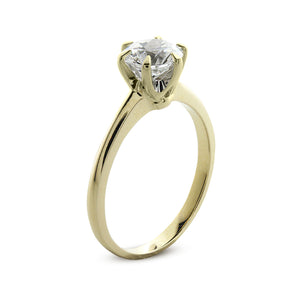 Maverick Solitaire Yellow Gold
