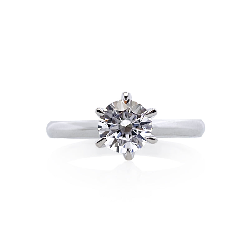 9K White Gold Solitaire Ring