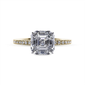 Loyal Asscher Cut Microset Yellow Gold