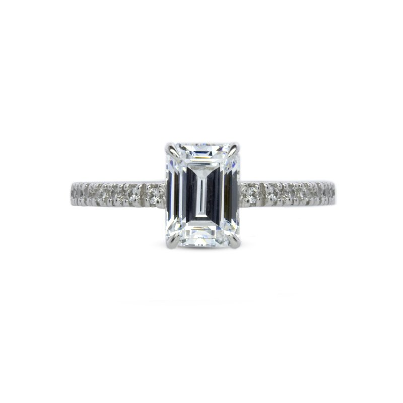 Emerald Cut Solitaire Microset