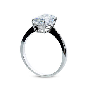 Knife Edge Emerald Cut Solitaire