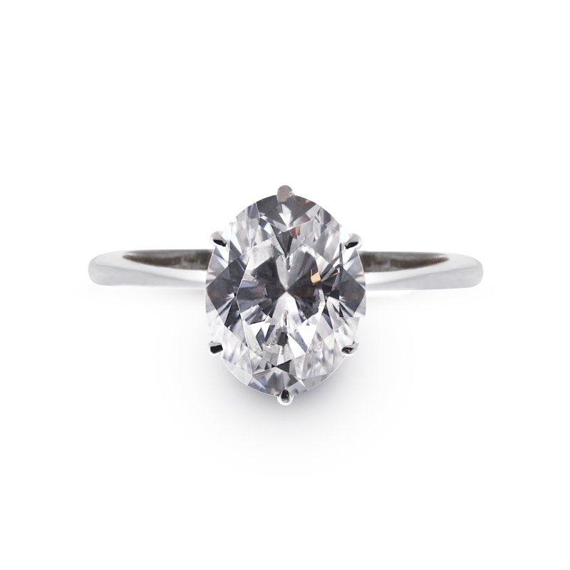 Knife Edge Oval Solitaire