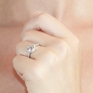 Sterling Silver Microset Ring - Engagement Ring