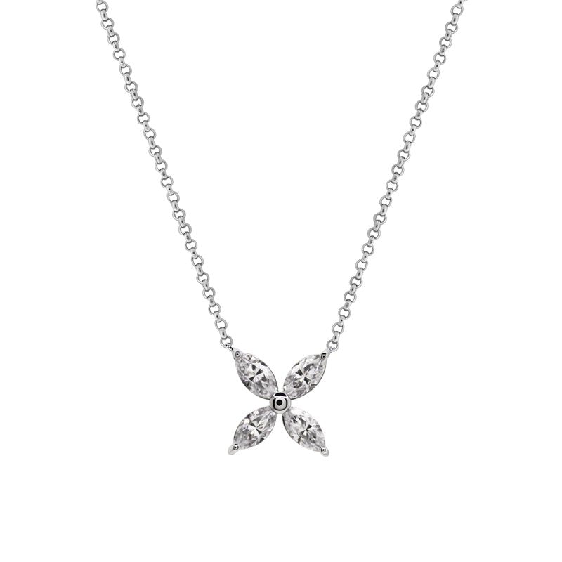 9K White Gold Pendant Necklace
