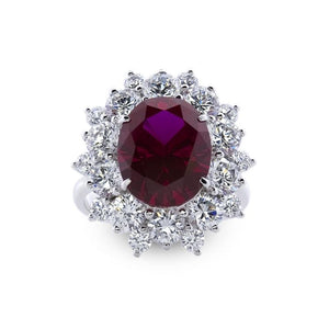 Kiana Starburst Oval Ruby Ring