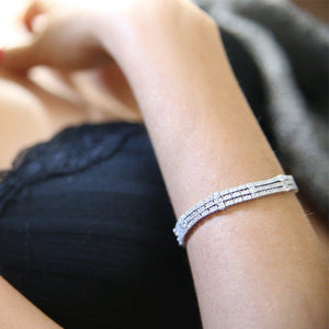 Sterling silver adjustable bracelet