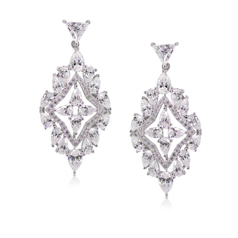Sterling Silver Drop Earrings - Chandelier Design