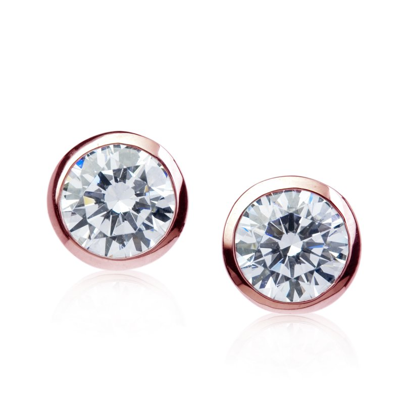 Rosie Studs in Rose