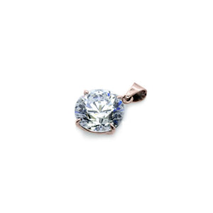 Round Solitaire Pendant Rose Gold
