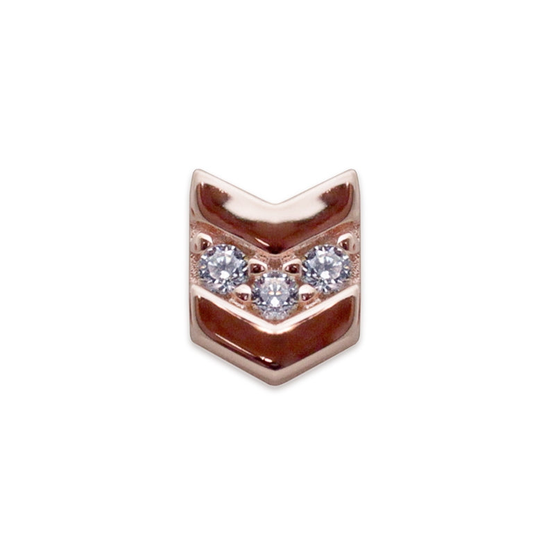 Arrow Stud Rose Gold