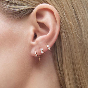 9K Rose Gold Hoop Earring