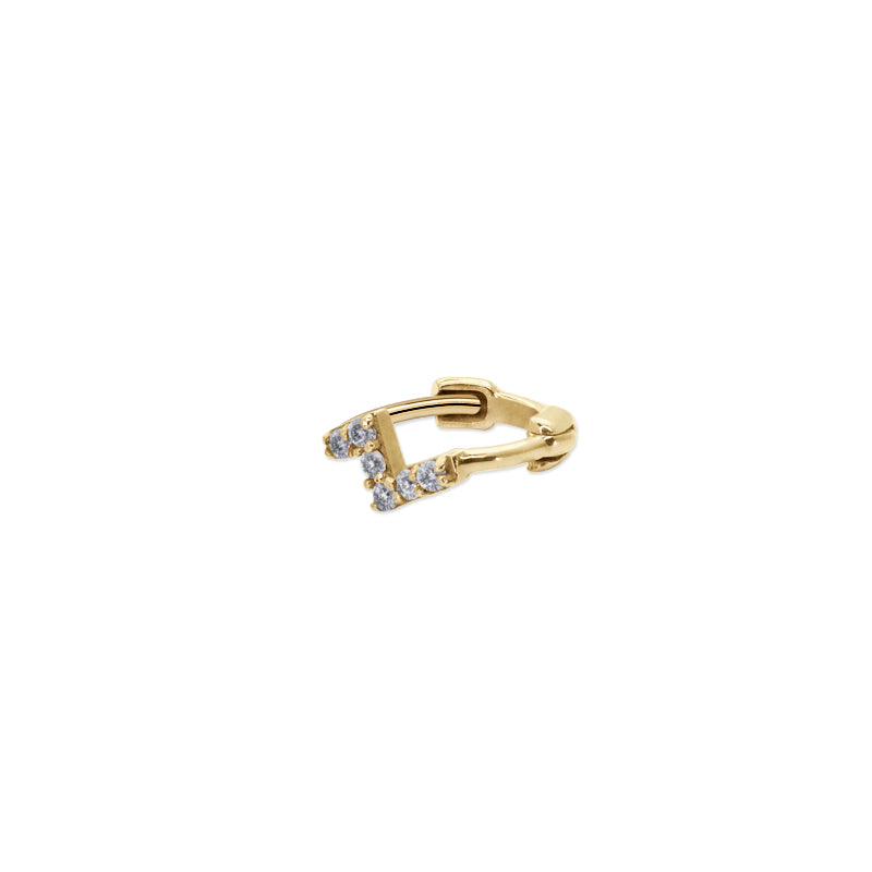 Rika Hoop 9K Yellow Gold