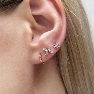 9K Yellow Gold Stud Earring