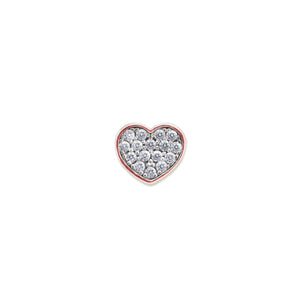 9K Rose Gold Heart Stud