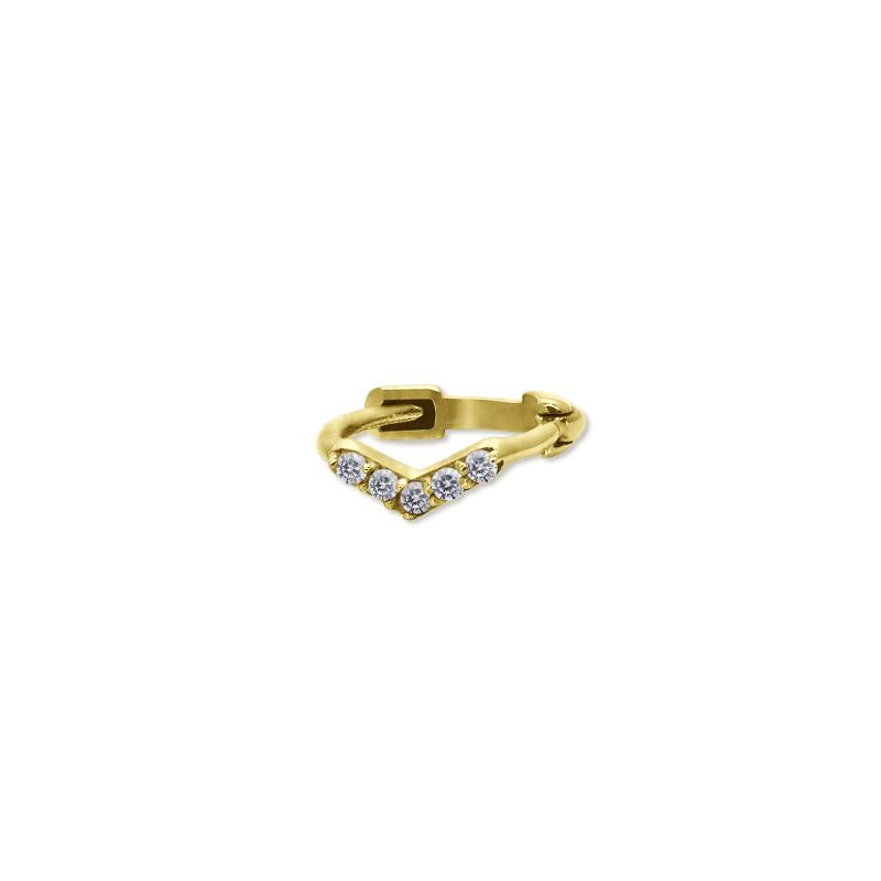 9K Yellow Gold Hoop