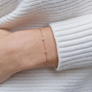 9K Rose Gold Adjustable bracelet
