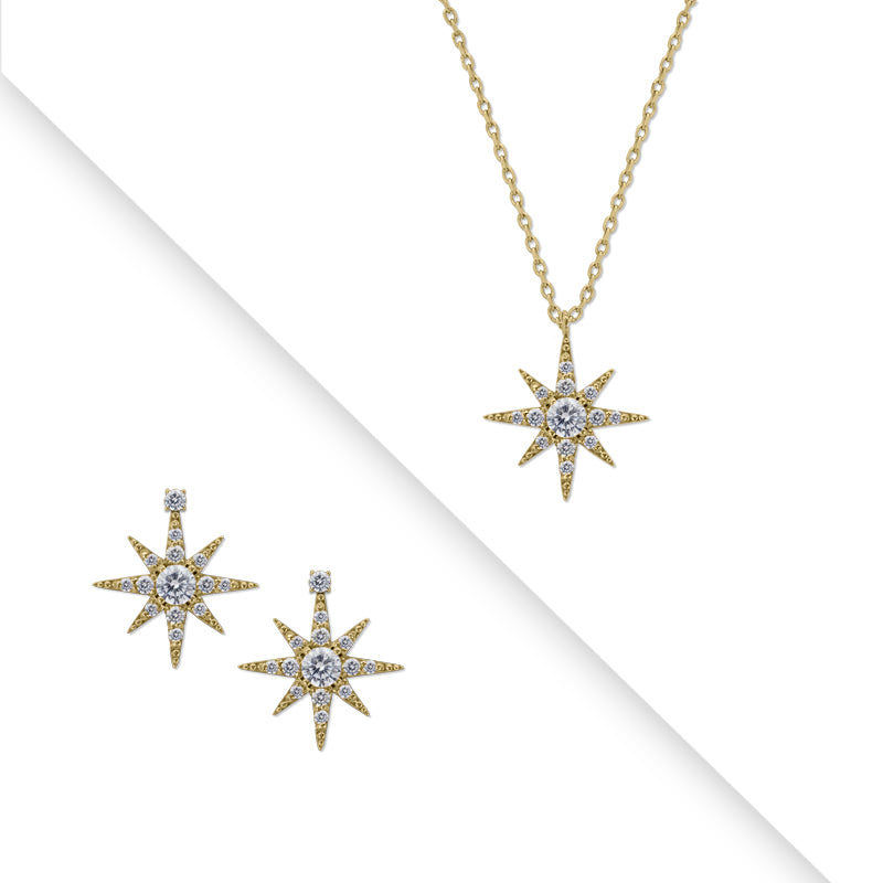 Polaris Earrings & Pendant Set