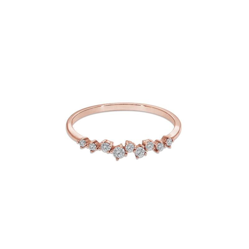 Leda Midi Ring in Rose Gold