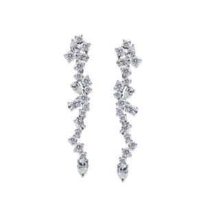 Sterling Silver Drop Earrings - waterfall design