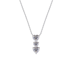Gramercy Tri Heart Drop Necklace