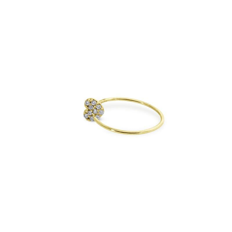 9K Yellow Gold Hoop - Heart Design