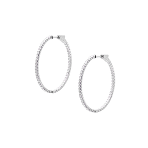 Sterling Silver Hoop Earrings - double sided design