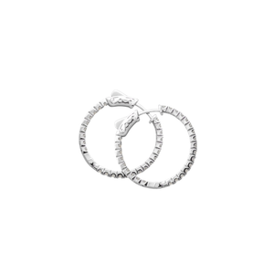 Sterling Silver Hoops - Double sided design