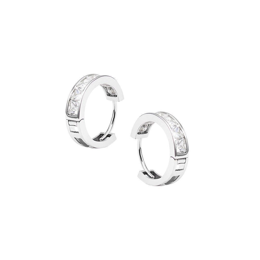 Waverly Princess Bezel Hoops