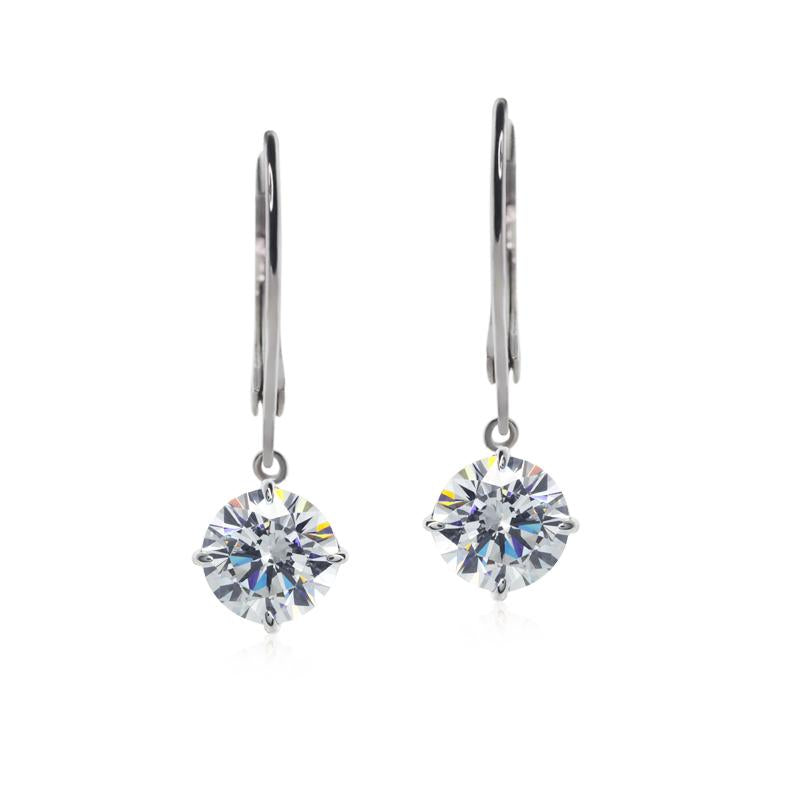 9K White Gold Drop Earrings