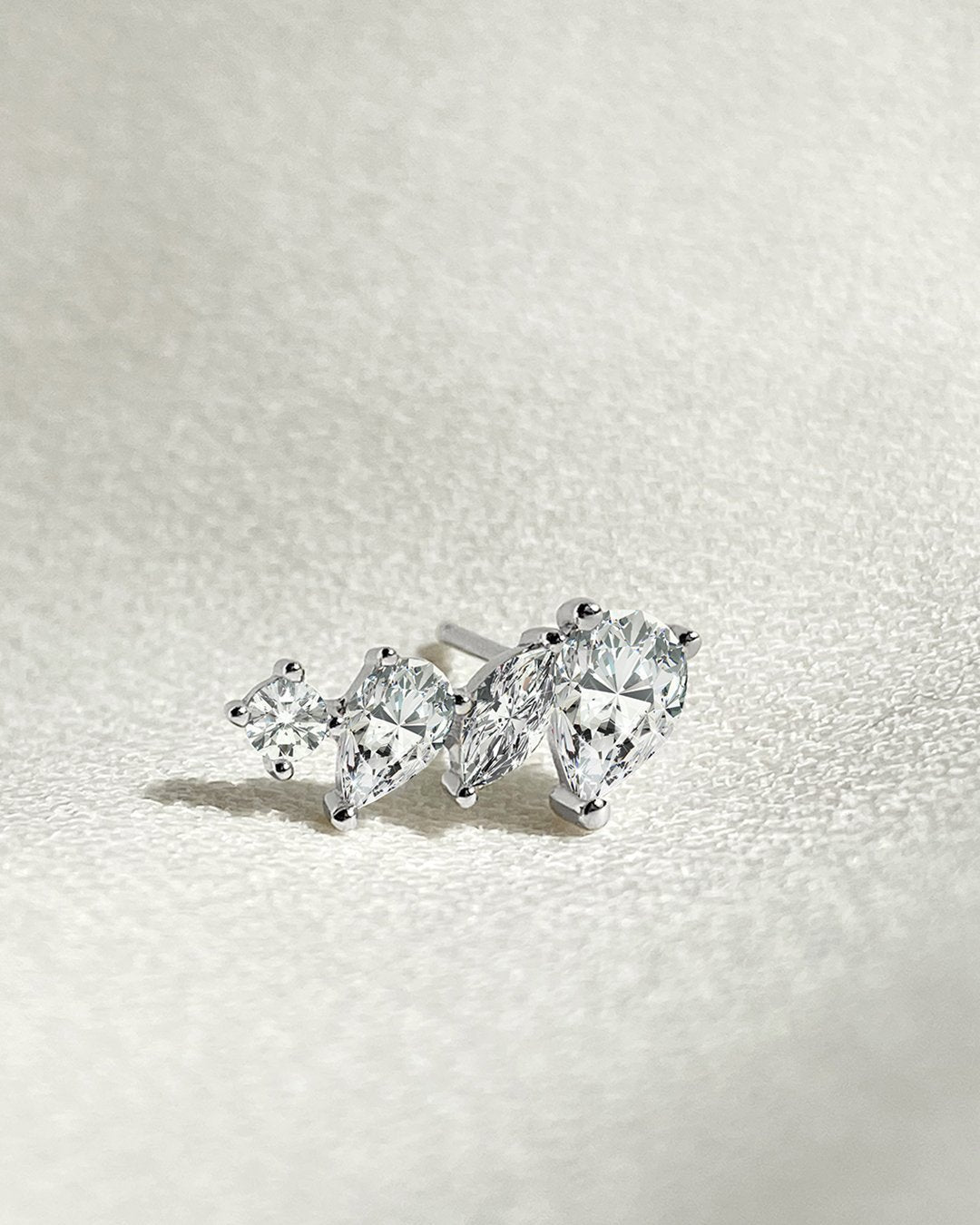 Abigail Marquise Cluster Stud Earrings