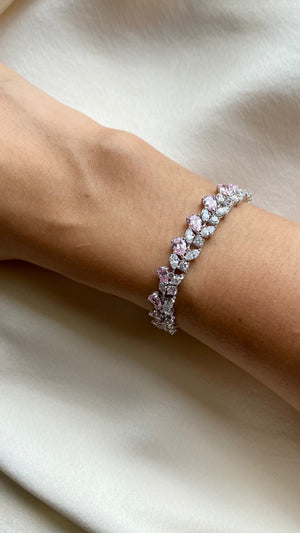 Destiny Pink Pear Marquise Round Bracelet