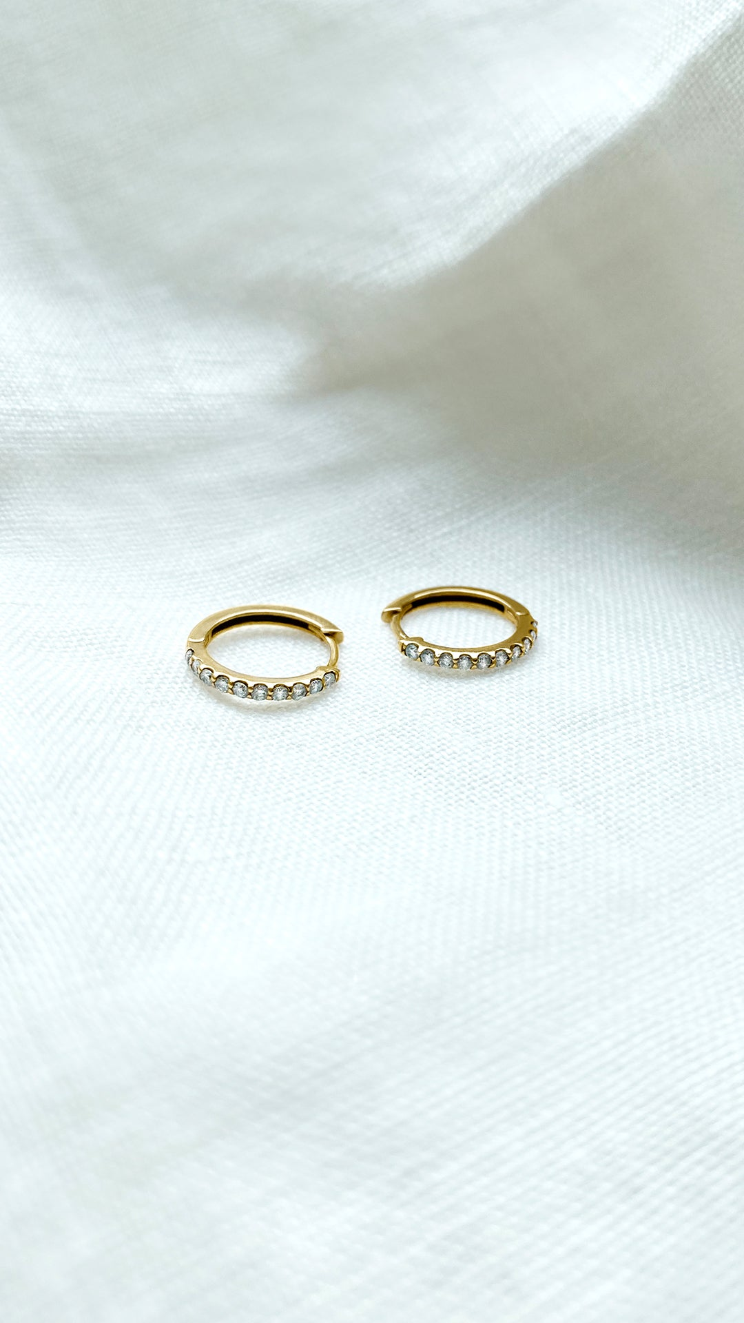 Dillon Hoops 9K Yellow Gold