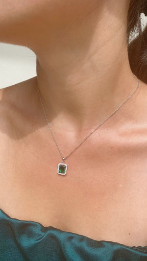 Eton Emerald Green Borderset Necklace