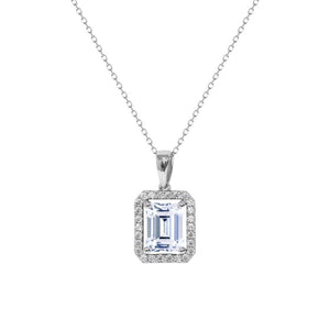 Eton Emerald Cut Borderset Necklace