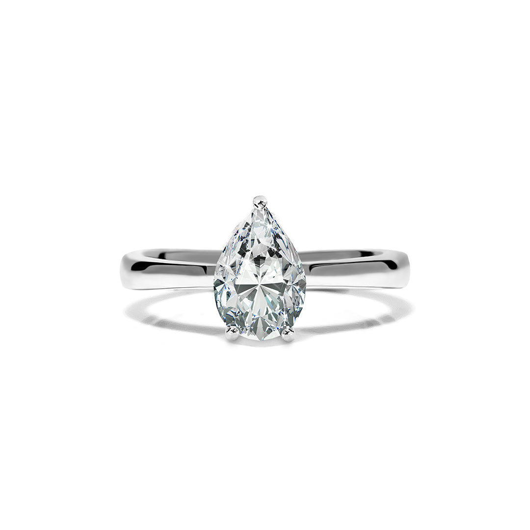 Florence Ring 18K White Gold