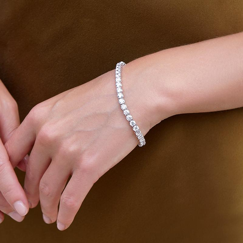 Hailey Round Prong Tennis Bracelet