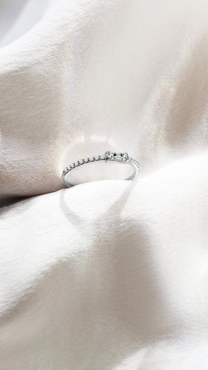 Ilaria Ring 9K White Gold
