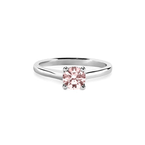 Caroline Ring Fancy Pink 0.45ct 18K White Gold