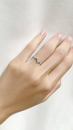 Lolita Ring 9K White Gold