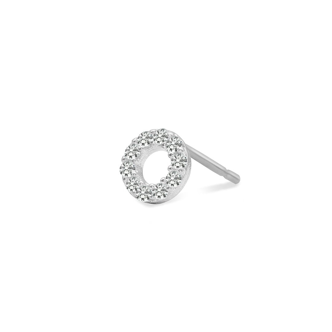 Miwa Stud 9K White Gold