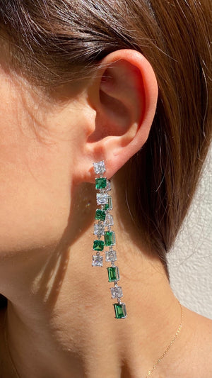 Nona Emerald Green Bermuda Drop Earrings