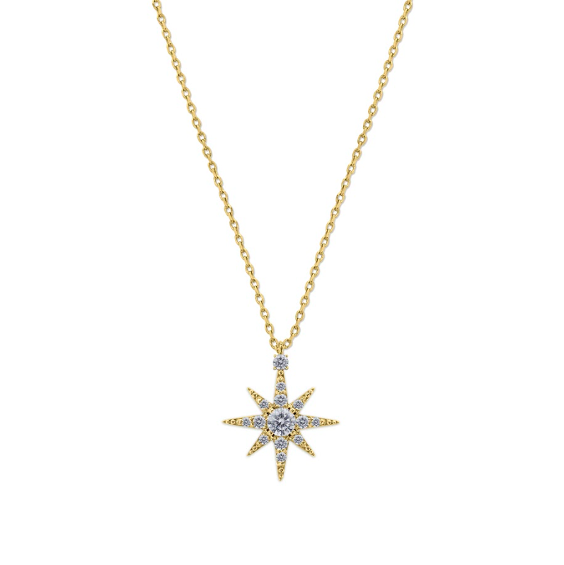 Polaris Necklace in Yellow Gold