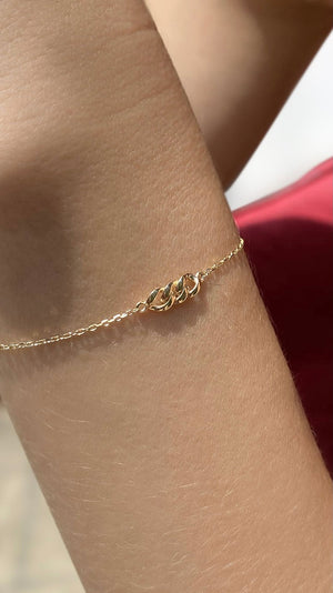 Selma Bracelet 9K Yellow Gold