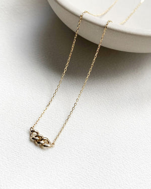 Selma Necklace 9K Yellow Gold