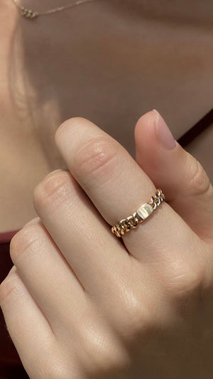 Selma Ring 9K Yellow Gold