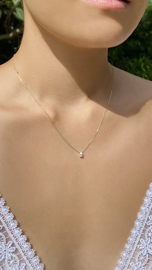 Simone Necklace 0.25ct 18K Yellow Gold