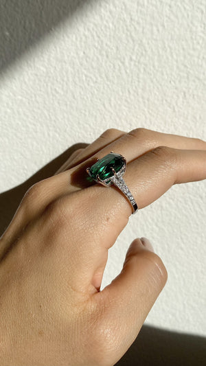 Tatum Emerald Flanders Cocktail Ring