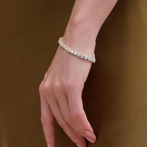 Vianne Round Prong Tennis Bracelet Yellow Gold
