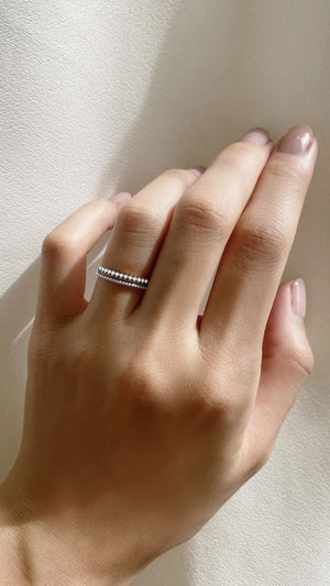 Zina Ring 9K White Gold